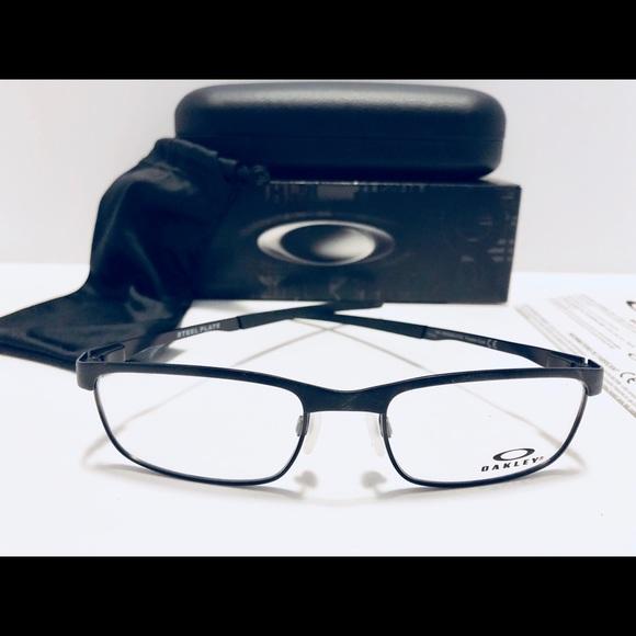 801219d6a73 Oakley Eyeglasses STEEL PLATE Powder Coal Metal 54